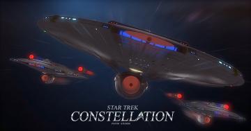 Картинка видео+игры star+trek+constellation космический корабль полет вселенная