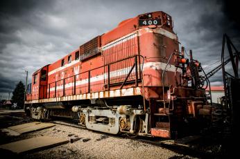 Картинка техника локомотивы рельсы железная дорога локомотив
