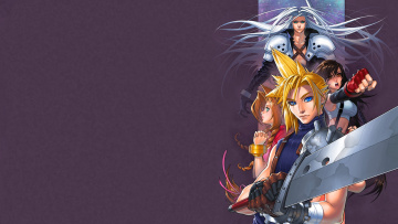 Картинка аниме final+fantasy меч tifa lockhart sephiroth cloud aerith