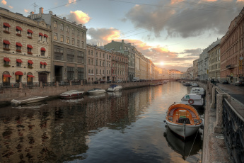 Картинка города санкт-петербург +петергоф+ россия спб канал ленинград питер