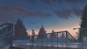 Картинка аниме kimi+no+na+wa фон девушка взгляд парень