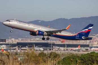 обоя airbus a321, авиация, пассажирские самолёты, авиалайнер