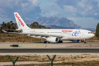 обоя airbus a330, авиация, пассажирские самолёты, авиалайнер
