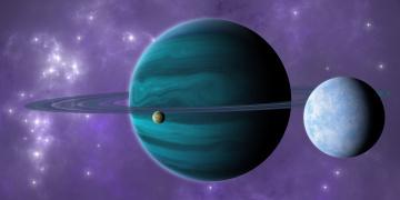 обоя космос, сатурн, планеты, звезды, вселенная
