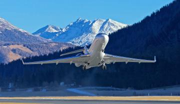 обоя bombardier global bd700, авиация, авиационный пейзаж, креатив, авиалайнер