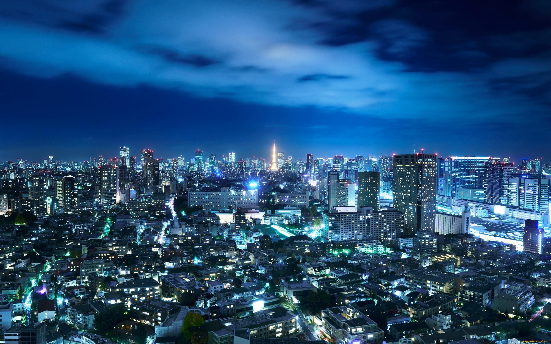 страны архитектура ночь Япония Токио country architecture night Japan Tokyo скачать