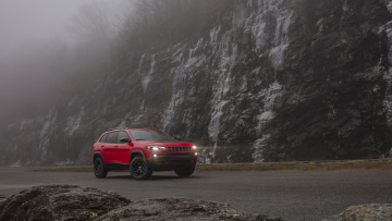 Картинка jeep+cherokee+trailhawk+2019 автомобили jeep 2019 trailhawk cherokee red
