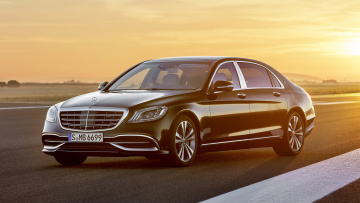обоя mercedes-maybach s-class s650 black 2018, автомобили, mercedes-benz, s650, s-class, mercedes-maybach, black, 2018