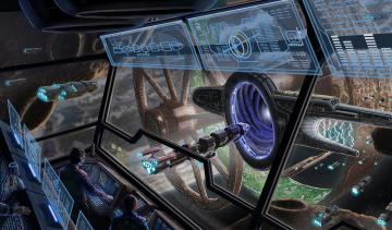 Картинка фэнтези космические+корабли +звездолеты +станции отсек корабль космический управление