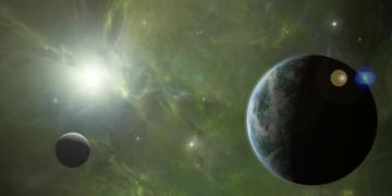 обоя космос, земля, звезды, галактика, планеты, вселенная