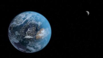 обоя космос, земля, планеты, вселенная, звезды, галактика
