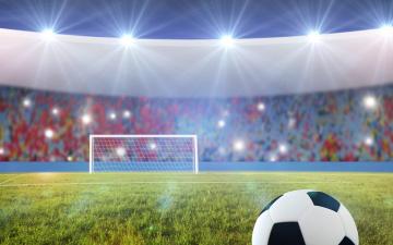 обоя спорт, футбол, огни, игра, стадион, ворота, поле, мяч