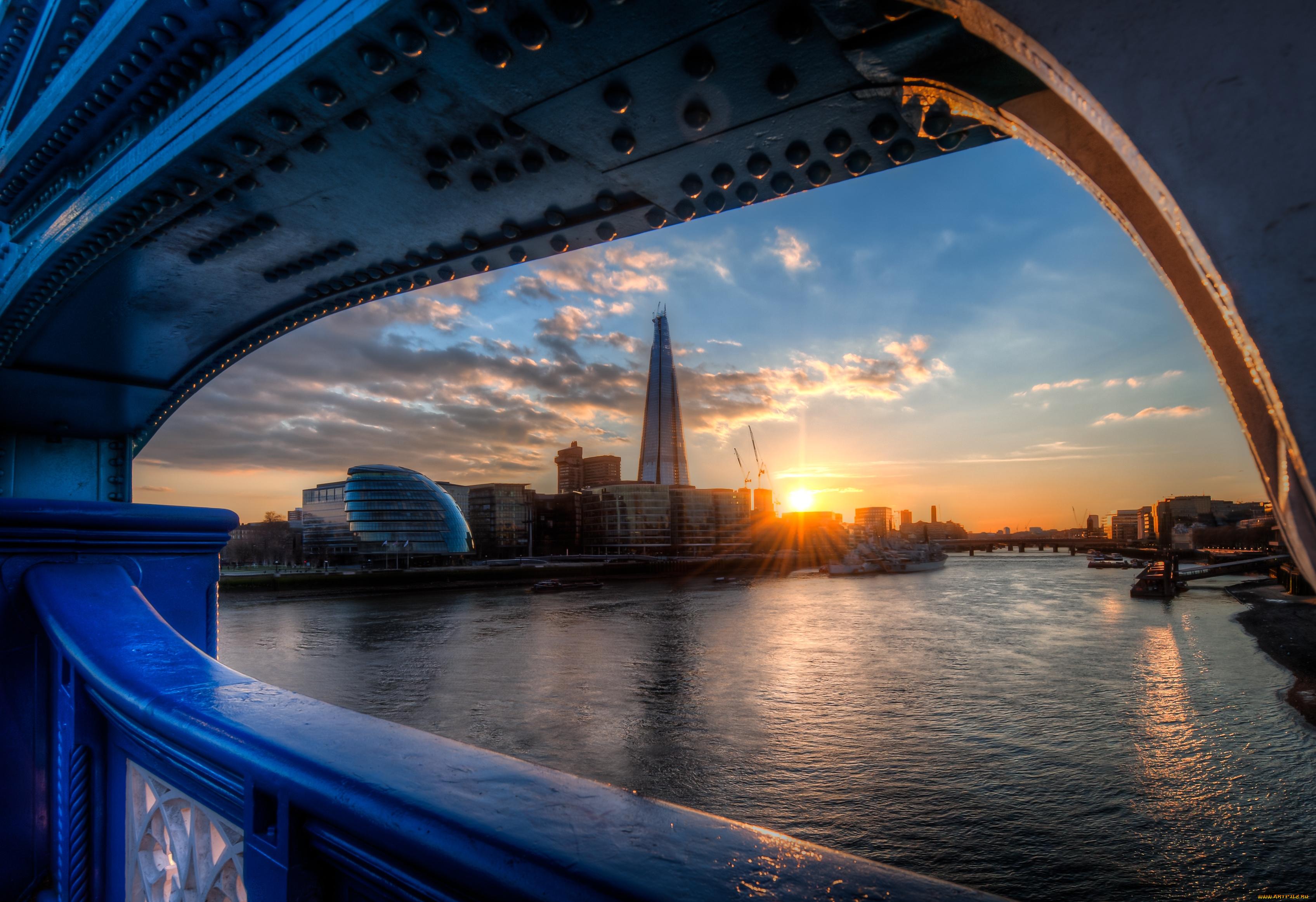 город лондон высота закат река темза скачать