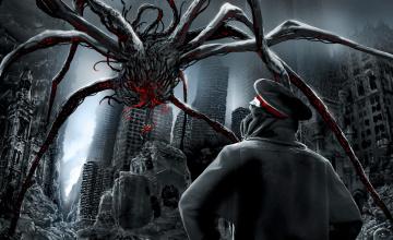 Картинка фэнтези существа туман монстр человек руины существо