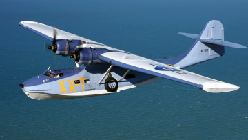 обоя авиация, самолёты амфибии, самолет, полет, море, consolidated, catalina, pby, гидроплан
