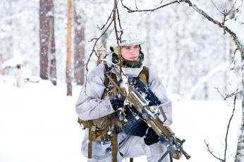обоя оружие, армия, спецназ, солдат, снег, norwegian, army