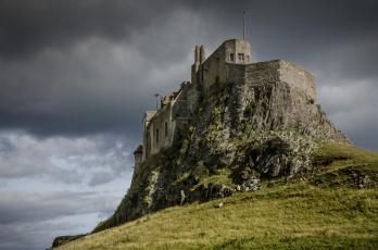 обоя города, - дворцы,  замки,  крепости, скала, замок