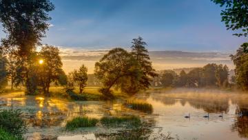 обоя природа, реки, озера, рассвет
