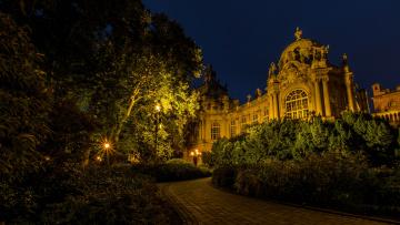 обоя vajdahunyad castle, города, - дворцы,  замки,  крепости, замок, ночь