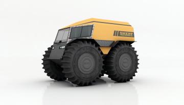 обоя вездеход sherp, техника, 3d, автомобиль, спецтехника, внедорожник, вездеход, sherp