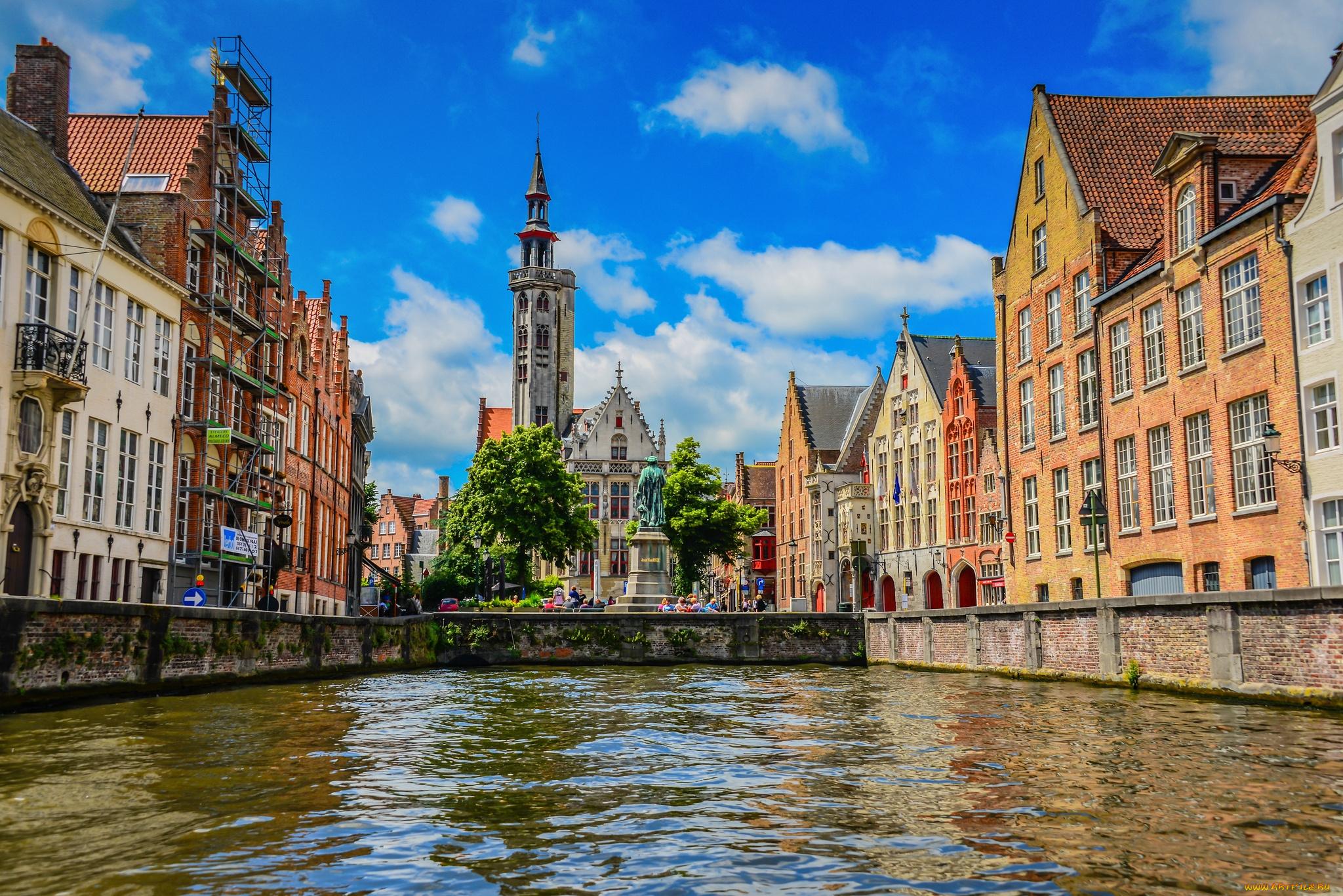 страны архитектура река Бельгия Брюгге  № 1730883  скачать
