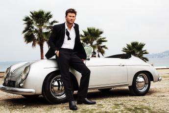 Картинка scott+eastwood мужчины скот иствуд кабриолет машина актер пальмы костюм белый
