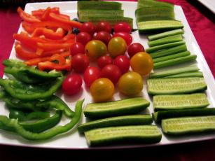 обоя еда, овощи, огурцы, черри, перец