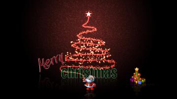 обоя праздничные, векторная графика , новый год, елка, фон