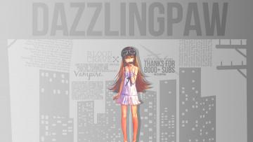 Картинка аниме bakemonogatari девушка взгляд фон