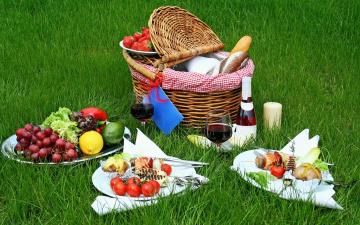 обоя еда, разное, пикник, вино, фрукты, овощи, клубника