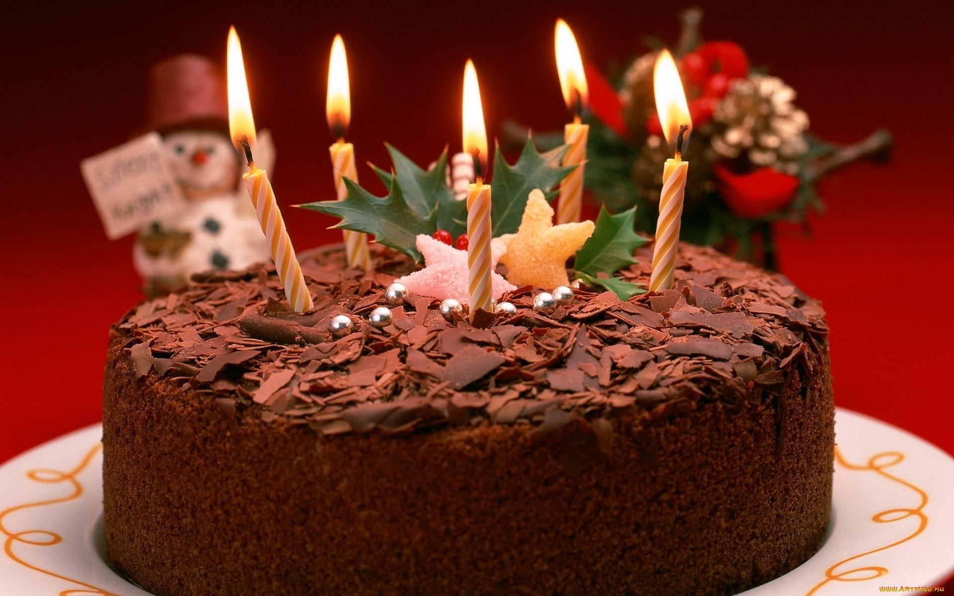 Открытка торт и свечи, днем пожарной охраной