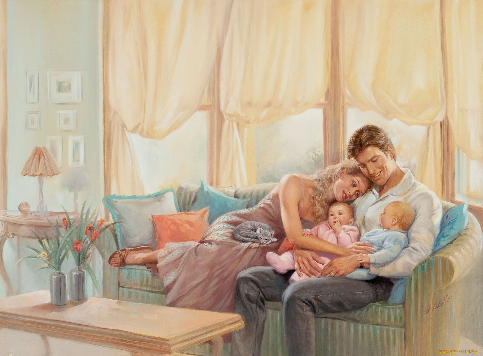 Семейные картинки со смыслом нарисованные