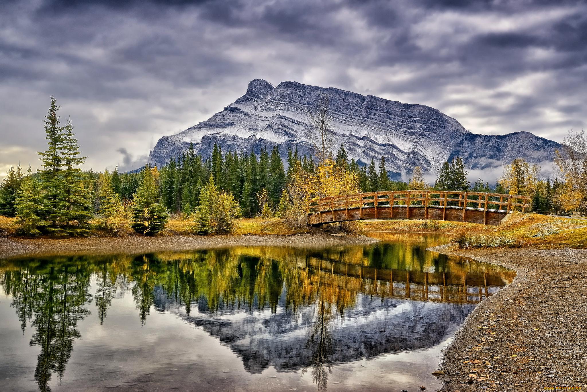 Wedge Pond, Alberta, Canada бесплатно