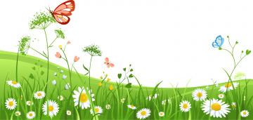 обоя векторная графика, природа , nature, цветы, трава