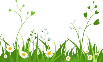 обоя векторная графика, природа , nature, трава, цветы