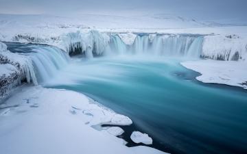 Картинка природа зима вода лед