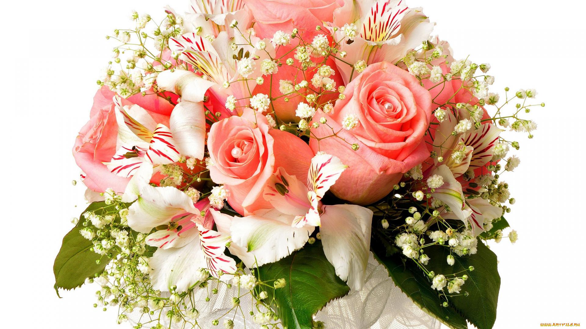 Открытки свадебные букеты цветов