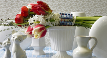 Картинка цветы букеты +композиции гиацинты тюльпаны