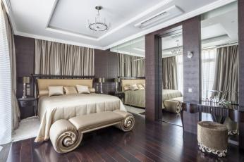 обоя интерьер, спальня, дизайн, кровать, стиль