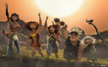 обоя мультфильмы, the croods, family, animated, film, the, croods, 2, movie