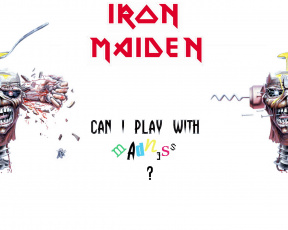 Картинка can play with madness музыка iron maiden