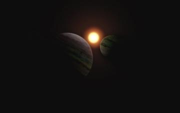 Картинка космос арт планеты
