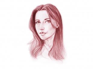 Картинка рисованное люди фон скетч портрет девушка взгляд