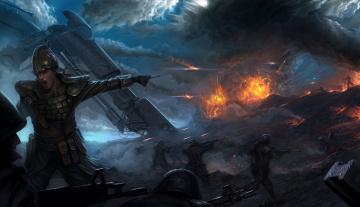 Картинка фэнтези люди бой сражение