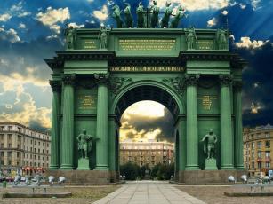 Картинка триумфальная+арка города санкт-петербург +петергоф+ россия триумфальная арка