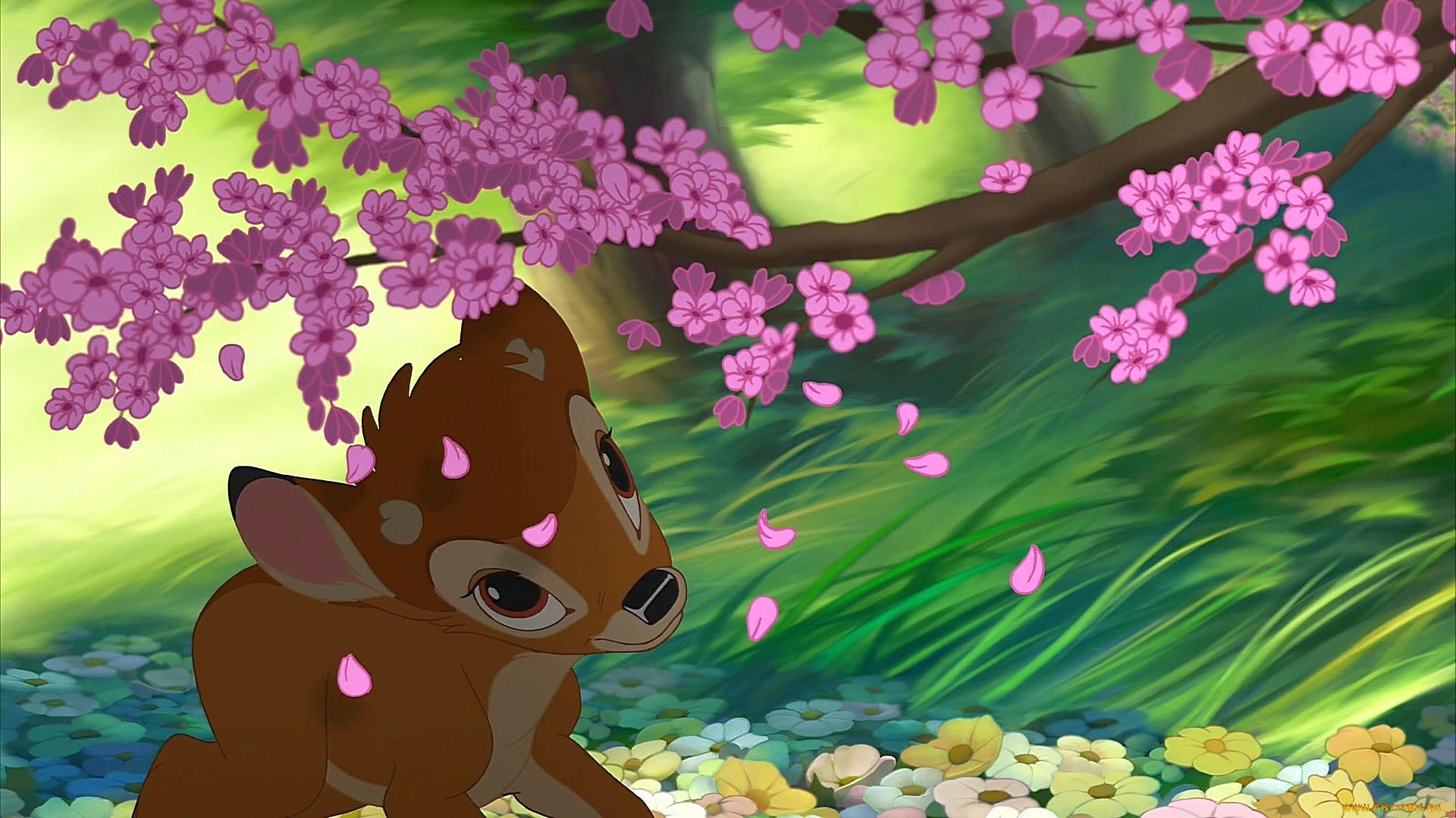 бэмби картинки с цветами востребованным