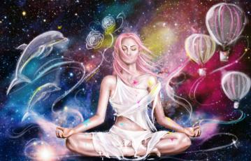 обоя фэнтези, эльфы, девушка, фон, медитация, эльф