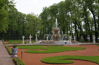 обоя летний сад, города, санкт-петербург,  петергоф , россия, летний, сад, коронный, фонтан, санкт-, петербург