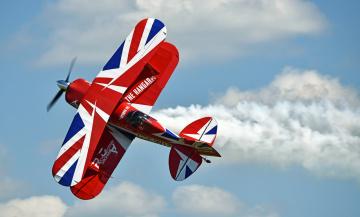 обоя pitts s-2s special, авиация, лёгкие одномоторные самолёты, биплан