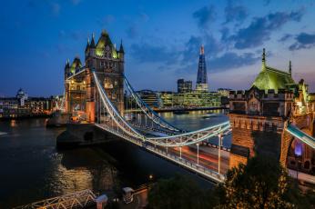 обоя tower bridge,  london, города, лондон , великобритания, река, мост